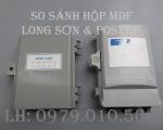 So sánh hộp cáp điện thoại Postef và Long Sơn