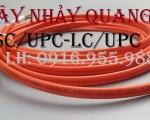 Dây nhảy quang Multimode LC SC UPC OM2 Duplex gồm 2 đầu vuông lớn và 2 đầu vuông nhỏ